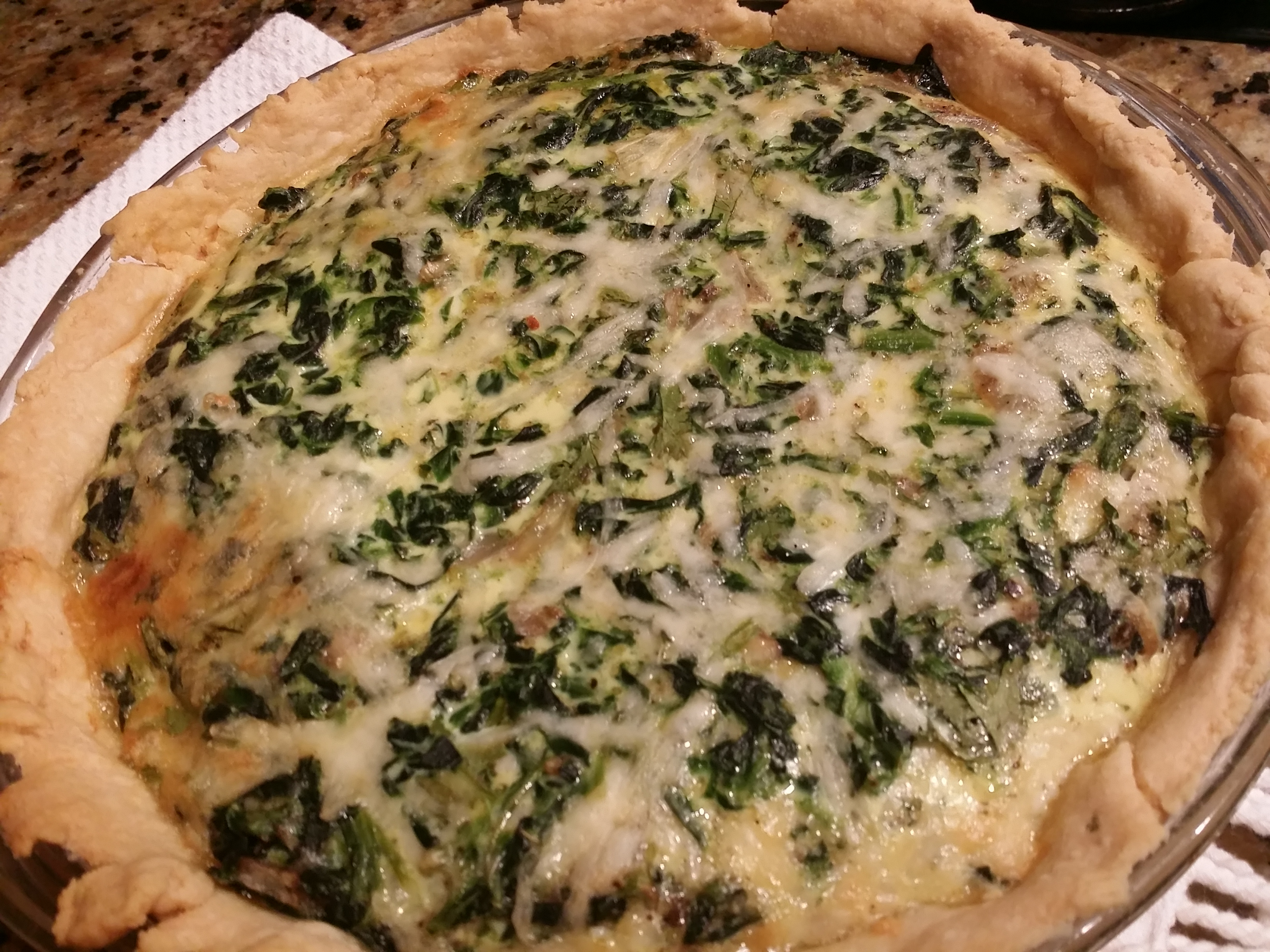 spinach quiche august 9 2015 spinach quiche